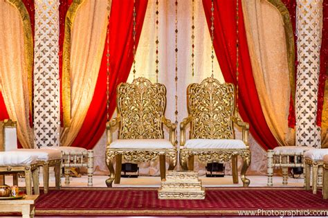 indian wedding chairs for and groom indian wedding ceremony in and gold by photographick