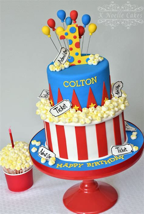 carnival themed cakes carnival theme with popcorn by k noelle cakes cakes by