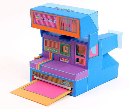 Realistic Papercraft - realistic papercraft polaroid and leica cameras in