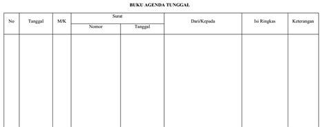 format buku ekspedisi intern penanganan surat sistem buku agenda anugerah dino