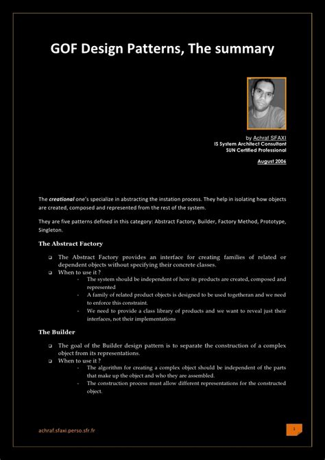 design pattern summary the 23 gof design patterns in java the summary