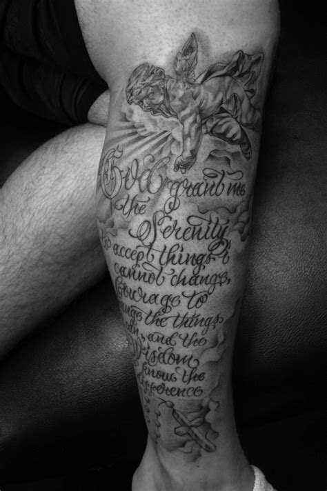 tattoo designs for male legs serenity prayer tattoos designs ideas and meaning
