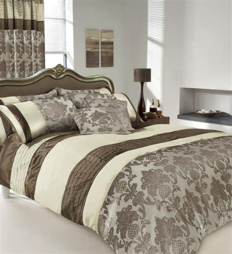brown and cream comforter set brown cream luxury printed duvet cover pillow cases set ebay