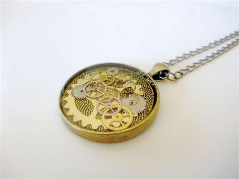 funky necklace cool cog antiqued pendant de stash