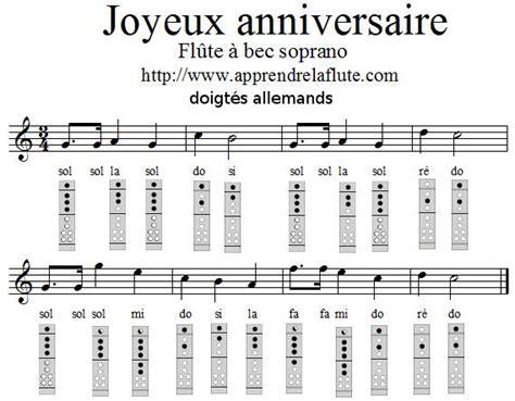 0043061060 la flute de a a joyeux anniversaire 224 la fl 251 te 224 bec apprendre la fl 251 te