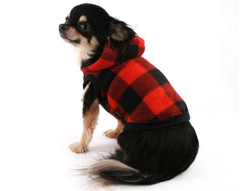 dog hoodie blue buffalo plaid dog sweater pet  dog apparel