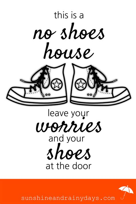 shoes off house no shoes printable sign shoes ideas