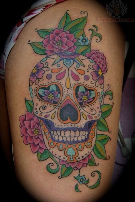 sugar skulls and roses tattoos sugar skull images designs