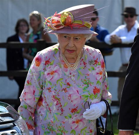 queen s the queen arrives at the cartier queen s cup polo final