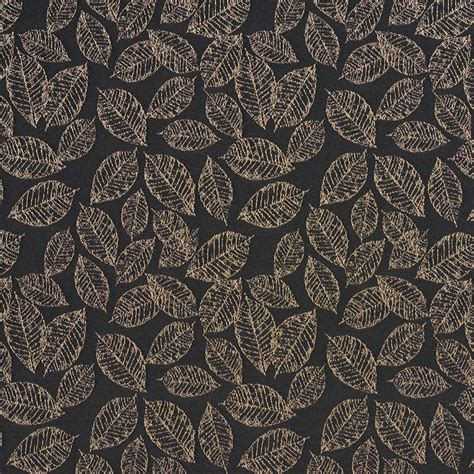 black floral upholstery fabric black floral leaf jacquard woven upholstery fabric by the