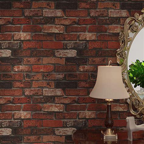 15 best 3d effect wallpaper designs visually enlarge room space rustic vintage vinyl 3d effect retro embossed red brick