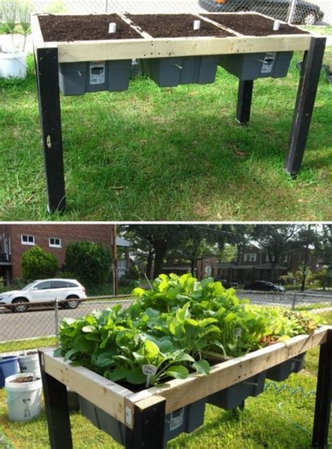 Self Watering Raised Bed by Raised Herb Garden Planter Ideas