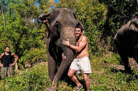 hug elephants sanctuary chiang mai thailand chiang mai