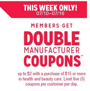 is kmart doubling 10 coupons this week