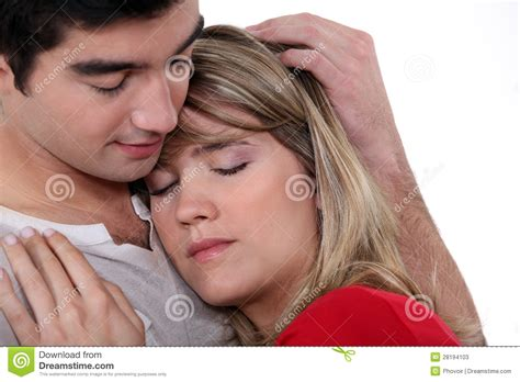 how to comfort a girlfriend man comforting girlfriend stock photos image 28194103