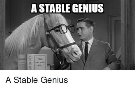 Mr Ed Meme - mr ed meme a stable genius you politics meme on esmemes com
