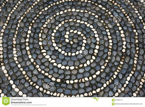 mosaic pattern spiral pebbles mosaic floor with spiral pattern stock image