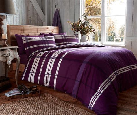 Flannel Bed Sets Flannel Duvet Set Omega Purple