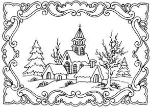 coloring winter winter landscape 5