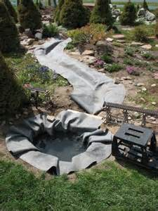 Small Backyard Fish Ponds by Water Garden Amp Pond Products Liner Underlayment Seam