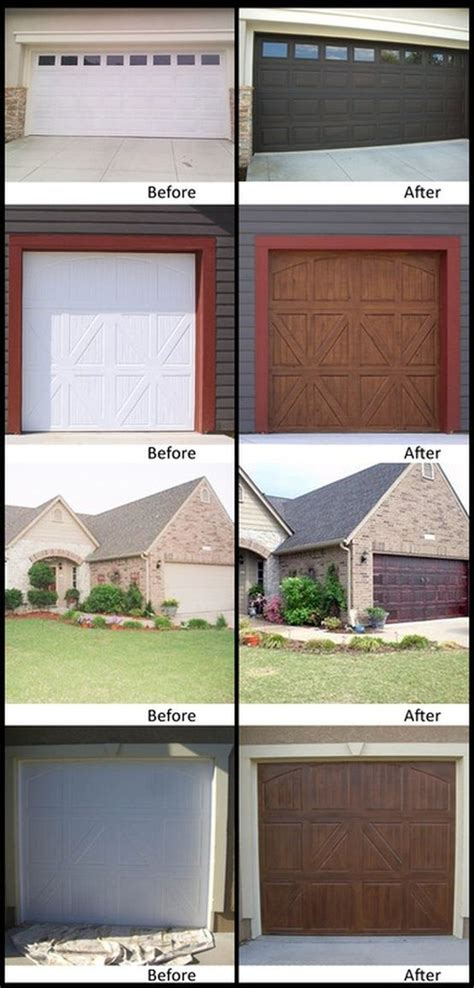 faux wood paint your garage door home