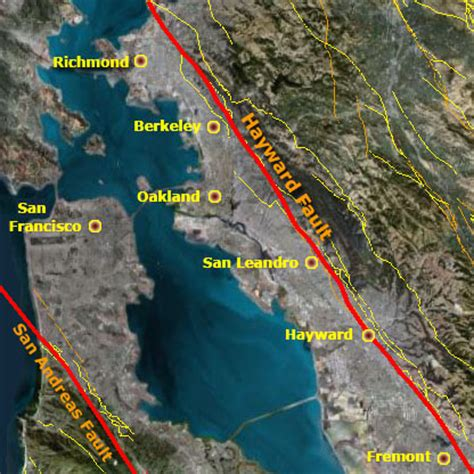 hayward fault map 3d 4d mapping of the san andreas fault zone