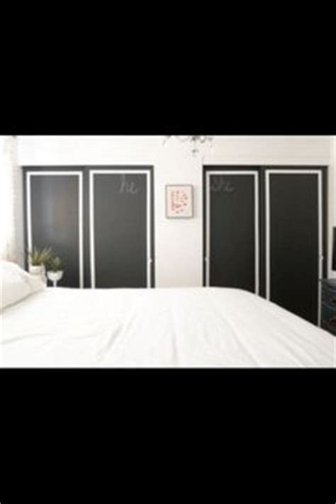 Chalkboard Sliding Closet Doors 1000 Images About Painted Sliding Doors On Pinterest Painted Closet Closet Doors And