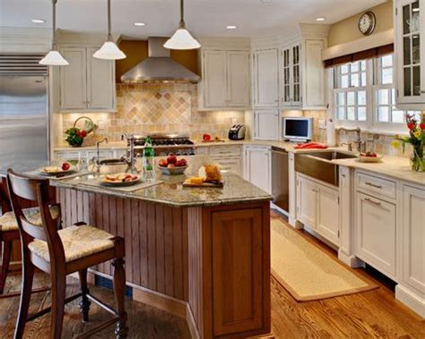 shaped kitchen islands shaped island houzz