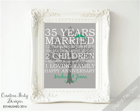 35th Wedding Anniversary by 35th Wedding Anniversary Gift 35th Anniversary Print