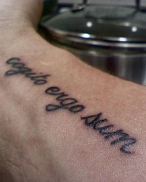 cogito ergo sum arm tattoo tattooimages biz