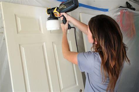 spray painting vs brush best 25 painting interior doors ideas on