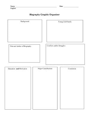 biography graphic organizer esl biography graphic organizer middle school pdf fill out