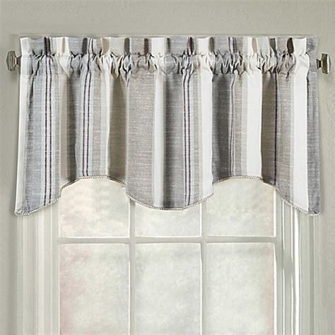 j queen valdosta shower curtain j queen new york valdosta stripe scallop window valance