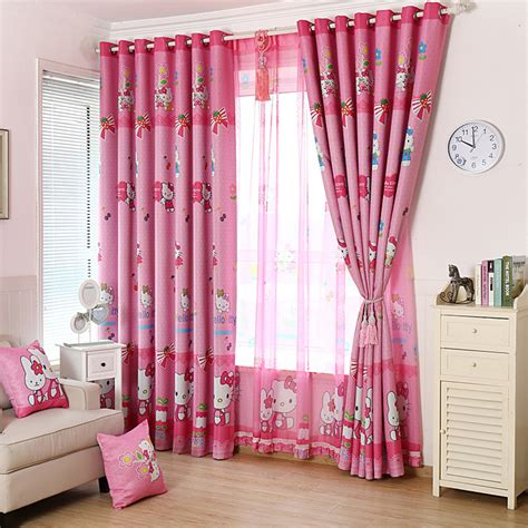 cheap curtains for kids discount cartoon cat pink nursery curtains for kids