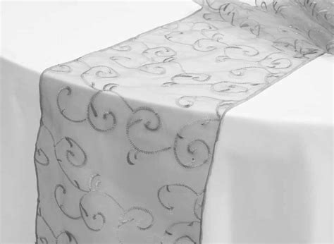 white and silver table runner table runners extraordinary white and silver table runner
