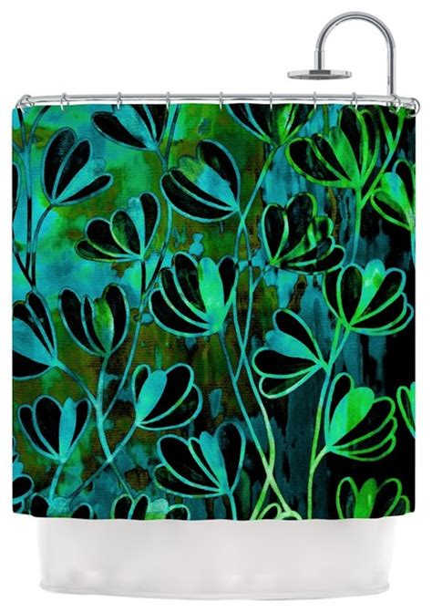 lime green and teal curtains ebi emporium quot efflorescence lime green quot teal black shower