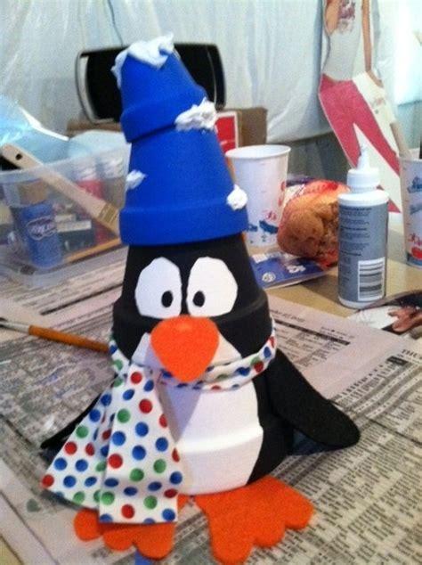 Animal Flower Pot Penguin penguin made from flower pots craft ideas flower pots flower and penguins