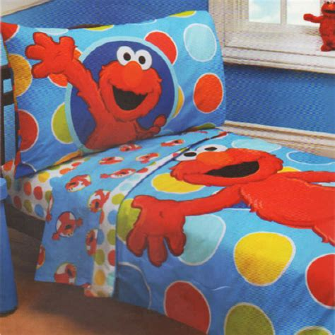 Sesame Street Toddler Bedding Elmo Polka Dots Comforter Elmo Bedding Set
