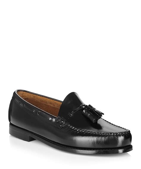 leather loafers sale bass weejun larkin black tasselled leather loafers