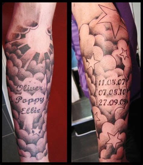 cloud arm tattoo designs 20 cloud tattoos on sleeve