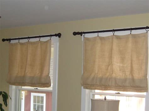 Decorations: Burlap Window Treatments For Cute Interior