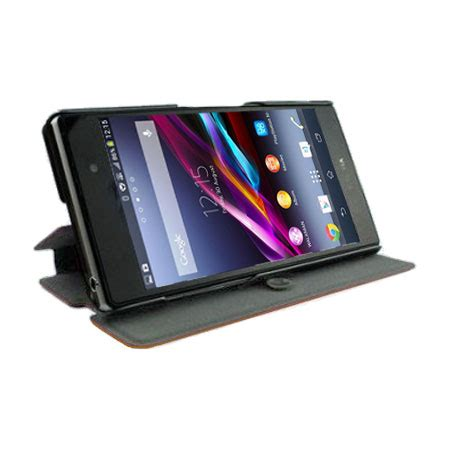 Casing Cover Sarung Pda Book Standing Xperia Z 2 Z2 book flip and stand for sony xperia z1 brown