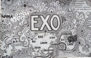doodle exo exo wallpaper exo wallpapers and exo