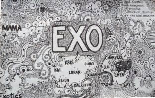 doodle kpop exo wallpaper k pop lover wallpapers