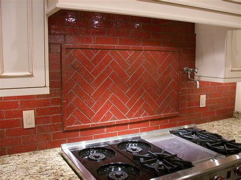 Brick Tile Kitchen Backsplash Brick Backsplash Mjr Paint And Tile Llc