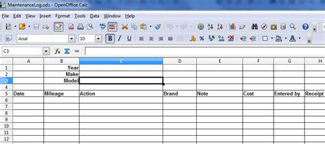 Maintenance Log Template Excel Baskan Idai Co Fleet Vehicle Maintenance Log Template