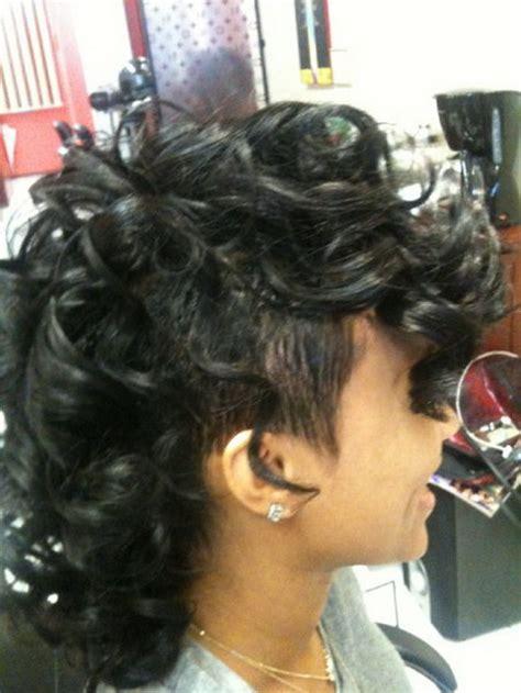 curly mohawk hairstyles  black women