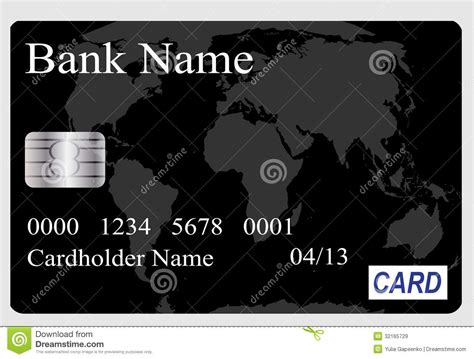 Credit Card Data Format Credit Card Vector Illustration Royalty Free Stock Images Image 32165729
