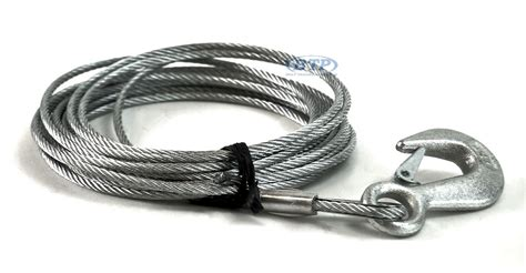 boat trailer winch cable boat trailer winch cable galvanized 3 16in x 25ft with hook