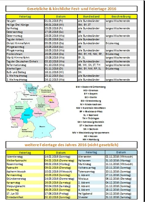 Kirchlicher Kalender 2016 Feiertage 2016 In Deutschland Office Lernen